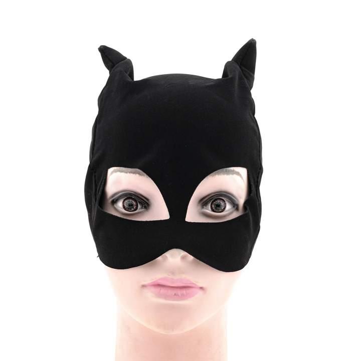 Czarna maska na twarz kot