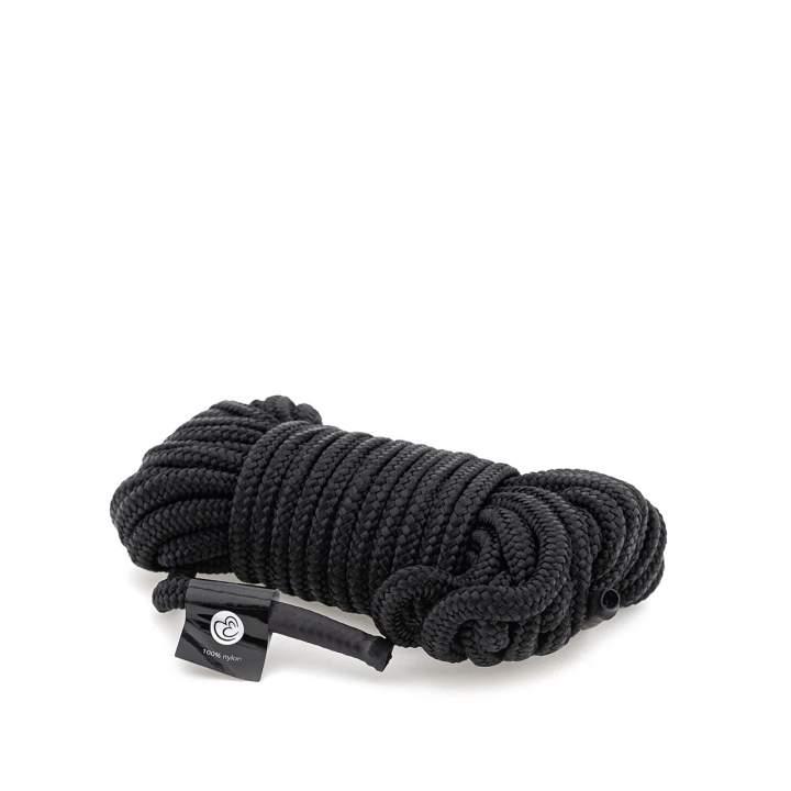 Czarna nylonowa lina bondage – 10 metrów