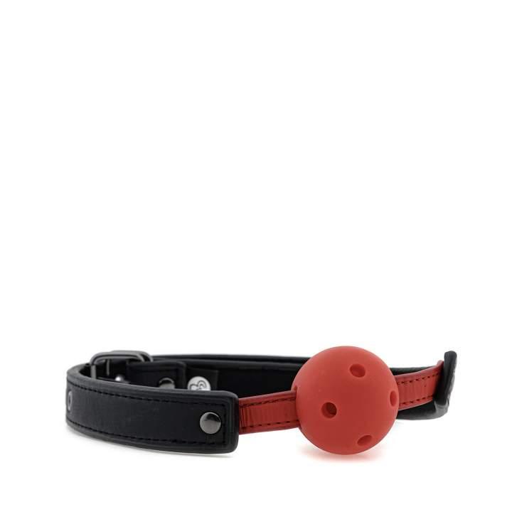 Czerwony plastikowy knebel z otworami powietrznymi – 4,5 cm