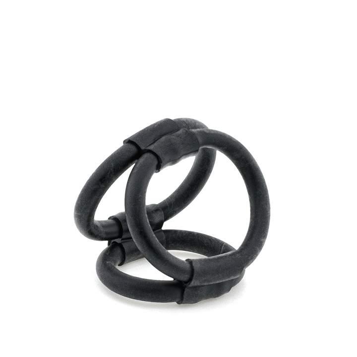 Czarny pierścień erekcyjny na penisa i jądra z TPE – 4 cm