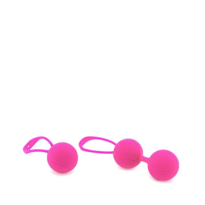 Trzy małe różowe kulki gejszy – średnica 3,4 cm