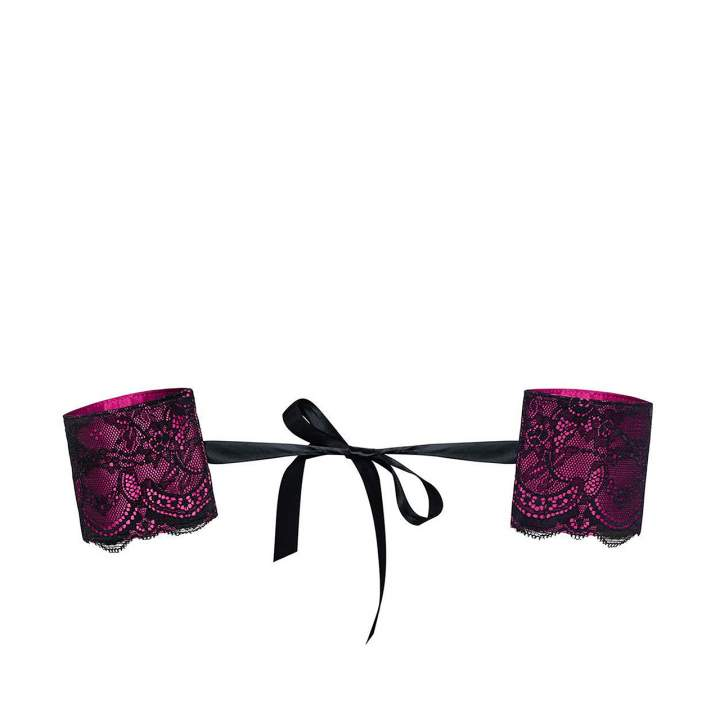 Kajdanki Obsessive Roseberry – różowe z delikatną wstążką