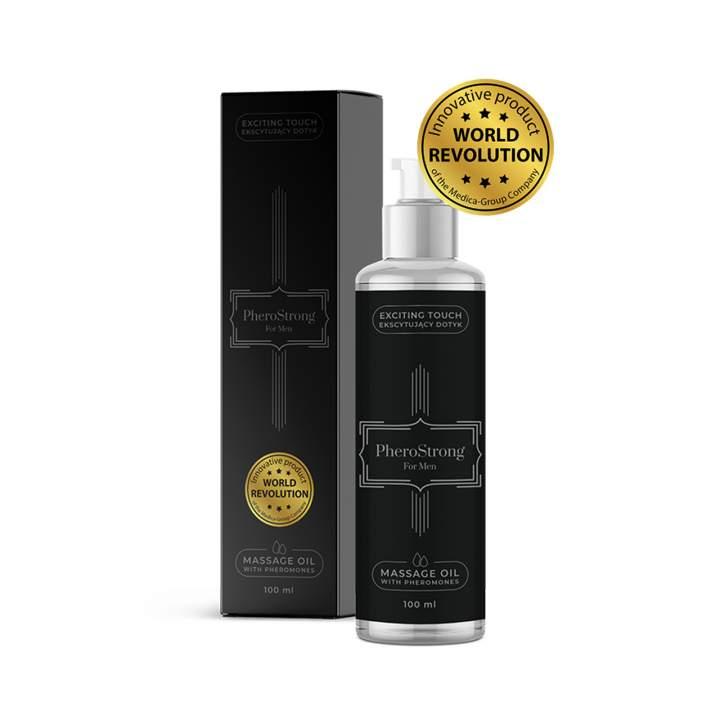 Wyjątkowy olejek do masażu z feromonami dla mężczyzn – PheroStrong – 100 ml