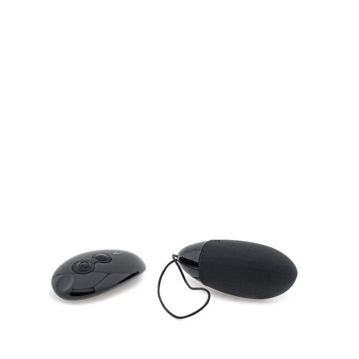 Czarne silikonowe jajeczko sterowane zdalnie dla par – 10 funkcji wibracji