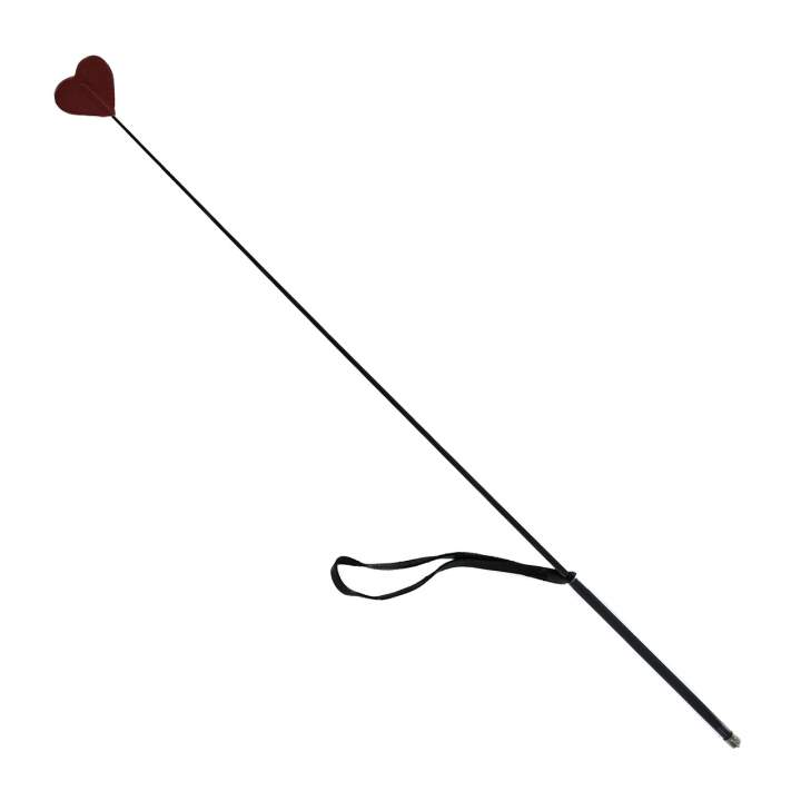 Ekskluzywna szklana szpicruta w kształcie serca ze skóry