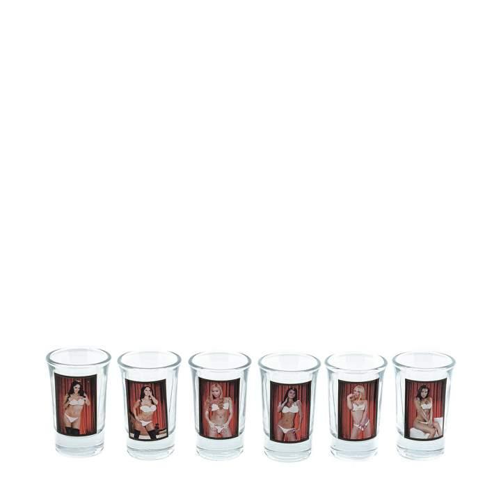 Zestaw 6 kieliszków – Red Light Kobiety – 35 ml
