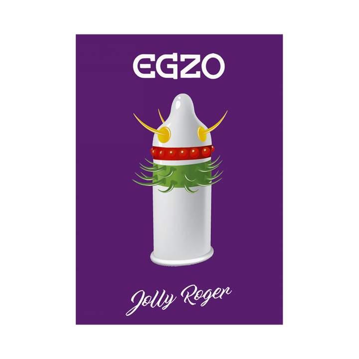 Egzo Jolly Roger prezerwatywa z wypustkami 1szt.