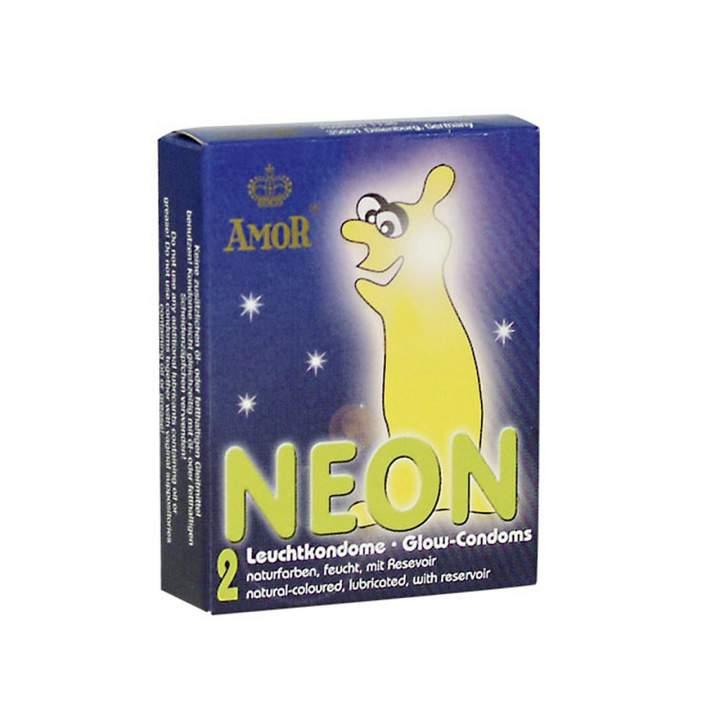 Lateksowe prezerwatywy świecące w ciemności – 2 sztuki