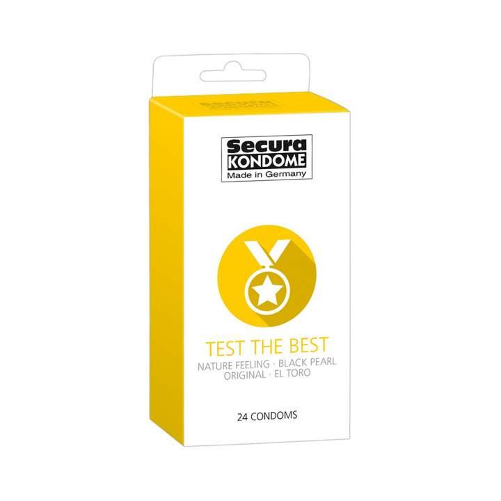3 rodzaje lateksowych prezerwatyw dla mężczyzn – 24 sztuk