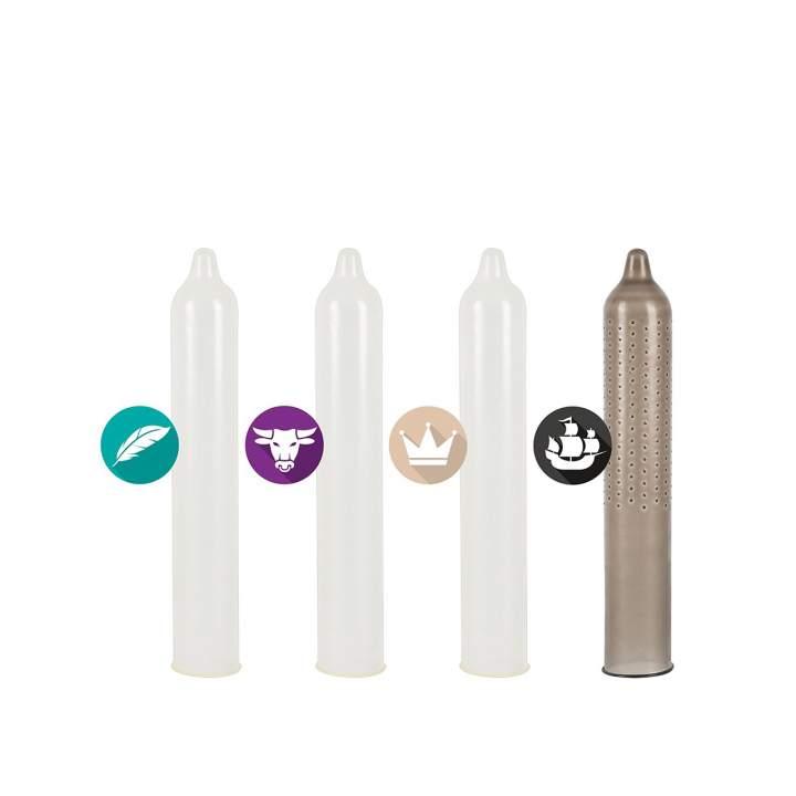 Zestaw różnych lateksowych prezerwatyw dla mężczyzn – 12 sztuk