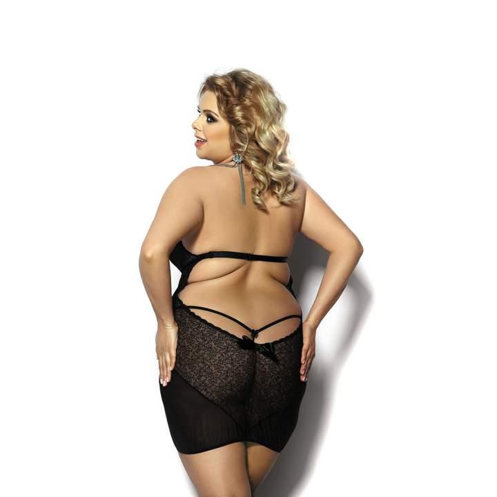 Seksowna koszulka nocna z wycięciem na plecach + stringi – Anais Amysa
