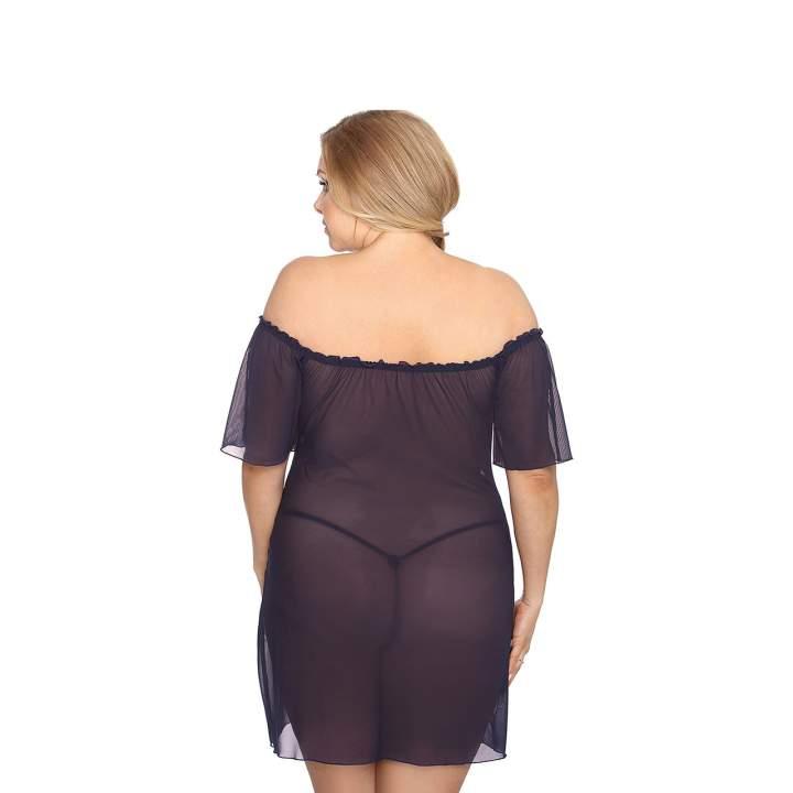 Zmysłowa, granatowa koszula nocna dla kobiet – Anais Venea