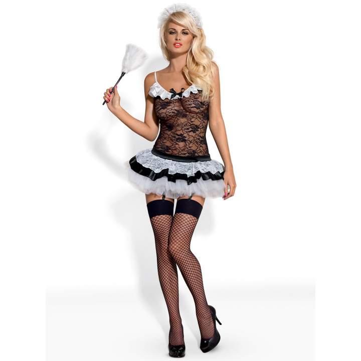 Seksowny, 5-częściowy strój pokojówki – Obsessive Housemaid-5
