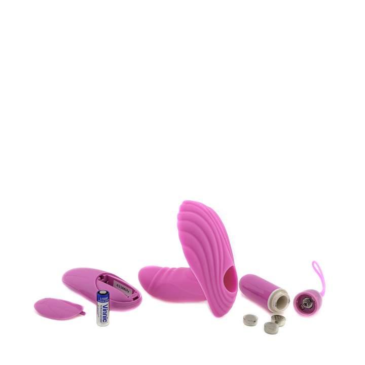 Mini wibrator ze stymulatorem łechtaczki w kształcie muszelki