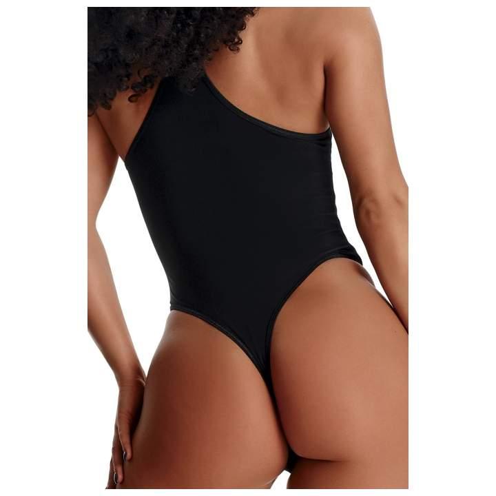 Czarne seksowne body z koronką na biuście Demoniq Trini