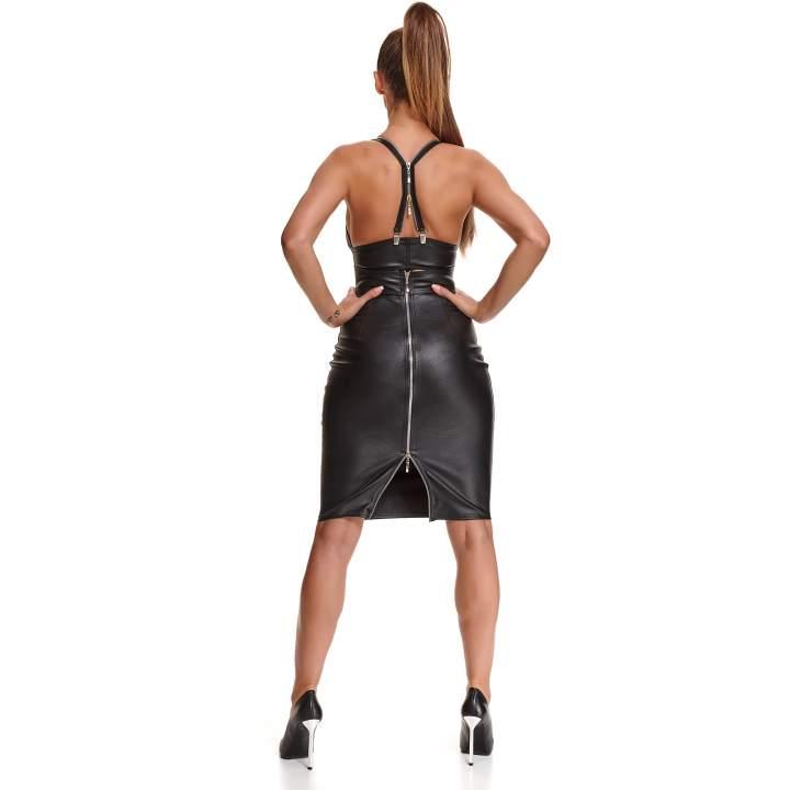 Czarna spódnica z elastycznej ekoskóry Demoniq Federica