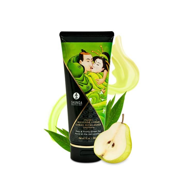 Jadalny krem do masażu Shunga - gruszka z zieloną herbatą - 200ml