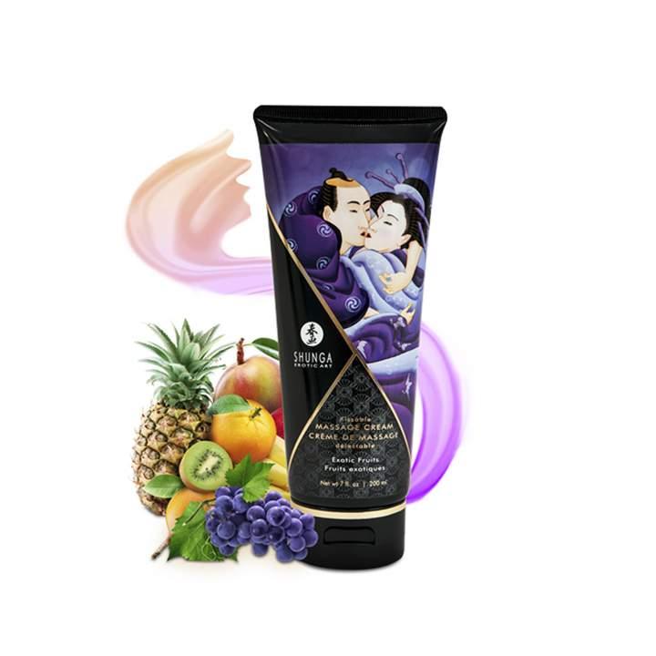 Jadalny krem do masażu Shunga o smaku egzotycznych owoców 200ml